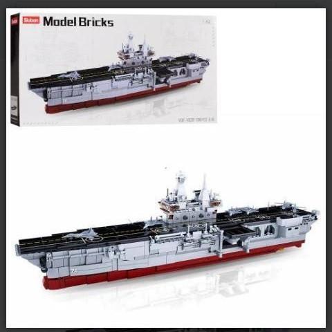 Большой Конструктор  Военный корабль Авианосец.SLUBAN M38- B0699