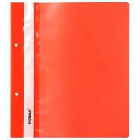 Швидкозшивач А5 пластиковий з перф, червоний, Norma (10)