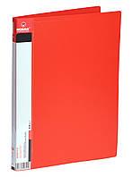 Папка-швидкозшивач+кишеня А4 700 мкм РР 2см, червона Norma (20)