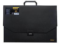 Портфель-коробка А3 чорний Scholz (10)