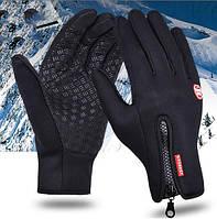 Сенсорные перчатки теплые черные размер XL унисекс