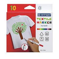 Набір маркерів Textile 2 мм 10 кол, Centropen (10)