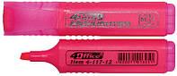 Маркер текстовий 1-5 мм рожевий, 4Office (12)