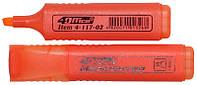 Маркер текстовий 1-5 мм помаранчевий, 4Office (12)