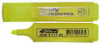 Маркер текстовий 1-5 мм жовтий, 4Office (12)