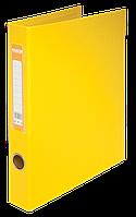 Папка А4 на 2 кільця 4 см жовта, Buromax