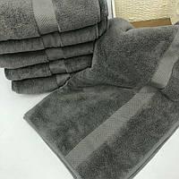 Банное полотенце микрокоттон Тёмный графит, фото 1