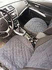 Накидки/чехлы на сиденья из эко-замши Киа Каренс 3 (Kia Carens III), фото 5