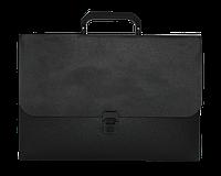 Портфель A4 пластик 700 мкм чорний JOBMAX, BUROMAX