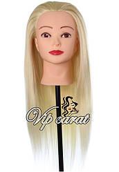 Учебная голова манекен для причесок 20% натуральных волос / манекен для парикмахера, блонд плетения