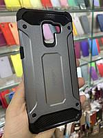 Чехол противоударный Spigen для Samsung A730 (A8 Plus-2018) Gray