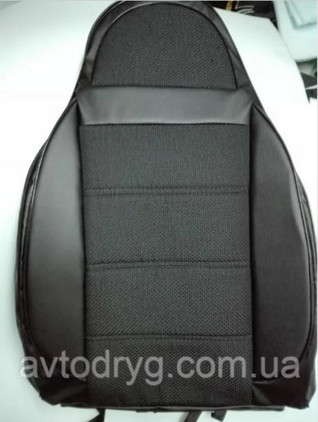Чехлы на сиденья КИА Соренто (KIA Sorento) (универсальные, кожзам+автоткань, пилот)