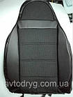 Чехлы на сиденья Хендай Матрикс (Hyundai Matrix) (универсальные, кожзам+автоткань, пилот), фото 3