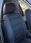 Чехлы на сиденья Шкода Фабия (Skoda Fabia) (модельные, автоткань, отдельный подголовник) Черно-синий, фото 6