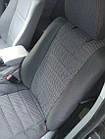 Чехлы на сиденья Шкода Фабия (Skoda Fabia) (модельные, автоткань, отдельный подголовник) Черно-синий, фото 7
