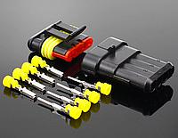 Роз'єм і гніздо 6 PIN (тато-мама) водонепроникний коннектор/з'єднувач IP68, фото 1