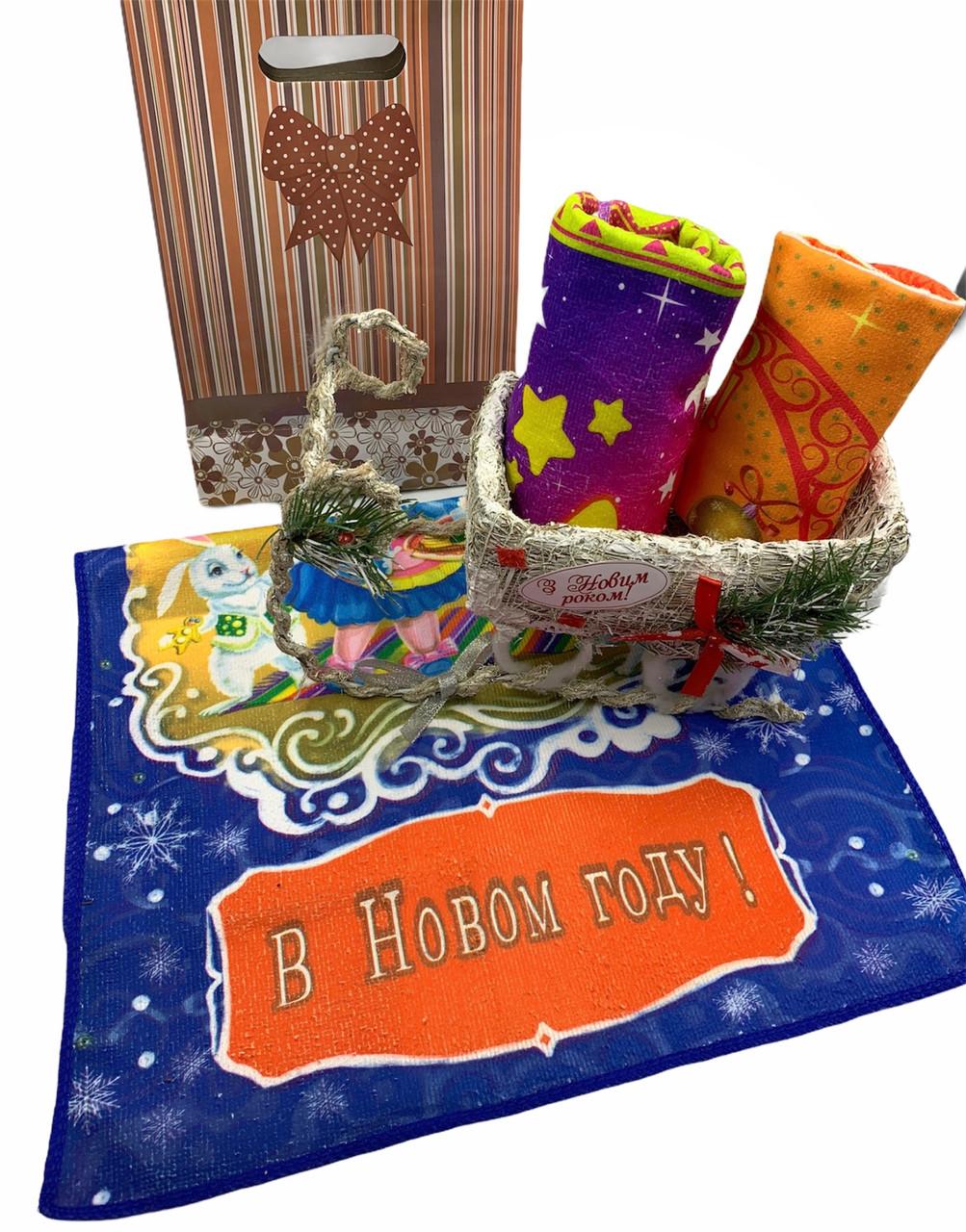Полотенце из микрофибры 40х65 Пожелание Счастья - 3шт/комплект ( в подарочной упаковке)