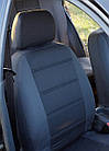 Чехлы на сиденья Рено Логан (Renault Logan) (модельные, автоткань, отдельный подголовник) Черно-белый, фото 6