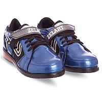 Штангетки-кросівки для пауерліфтингу важкої атлетики гирьового спорту ZELART PU Сині (OB-6319) 39