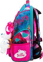 Ранець шкільний ортопедичний для дівчинки 1-3 клас сумка для взуття з 3D малюнком DeLune 11-029, фото 2