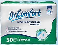 Впитывающие одноразовые пеленки 60x90см, Dr.Comfort, Jumbo,  30шт.