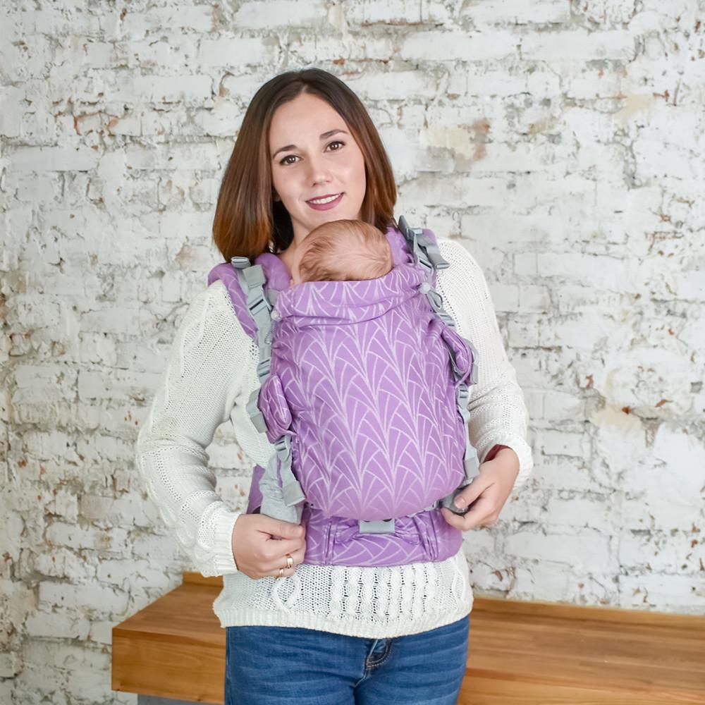 Эрго-рюкзак Adapt Weaving Lilac 0+ Malishastik