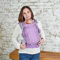Ерго-рюкзак Adapt Weaving Lilac 0+ Malishastik