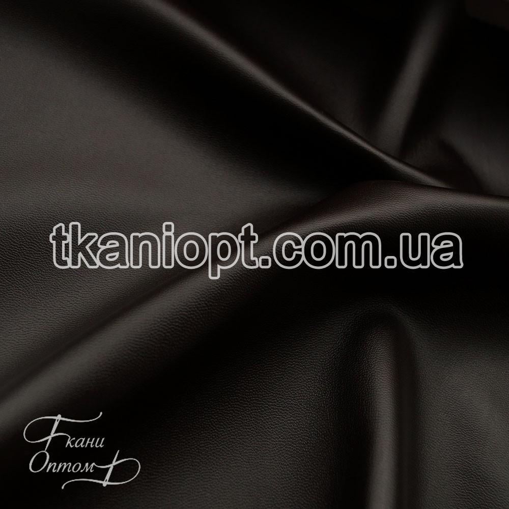 Ткань Кожзам на замшевой основе (коричневый)
