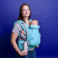 Ерго-рюкзак Adapt Weaving Turquoise 0+ Malishastik
