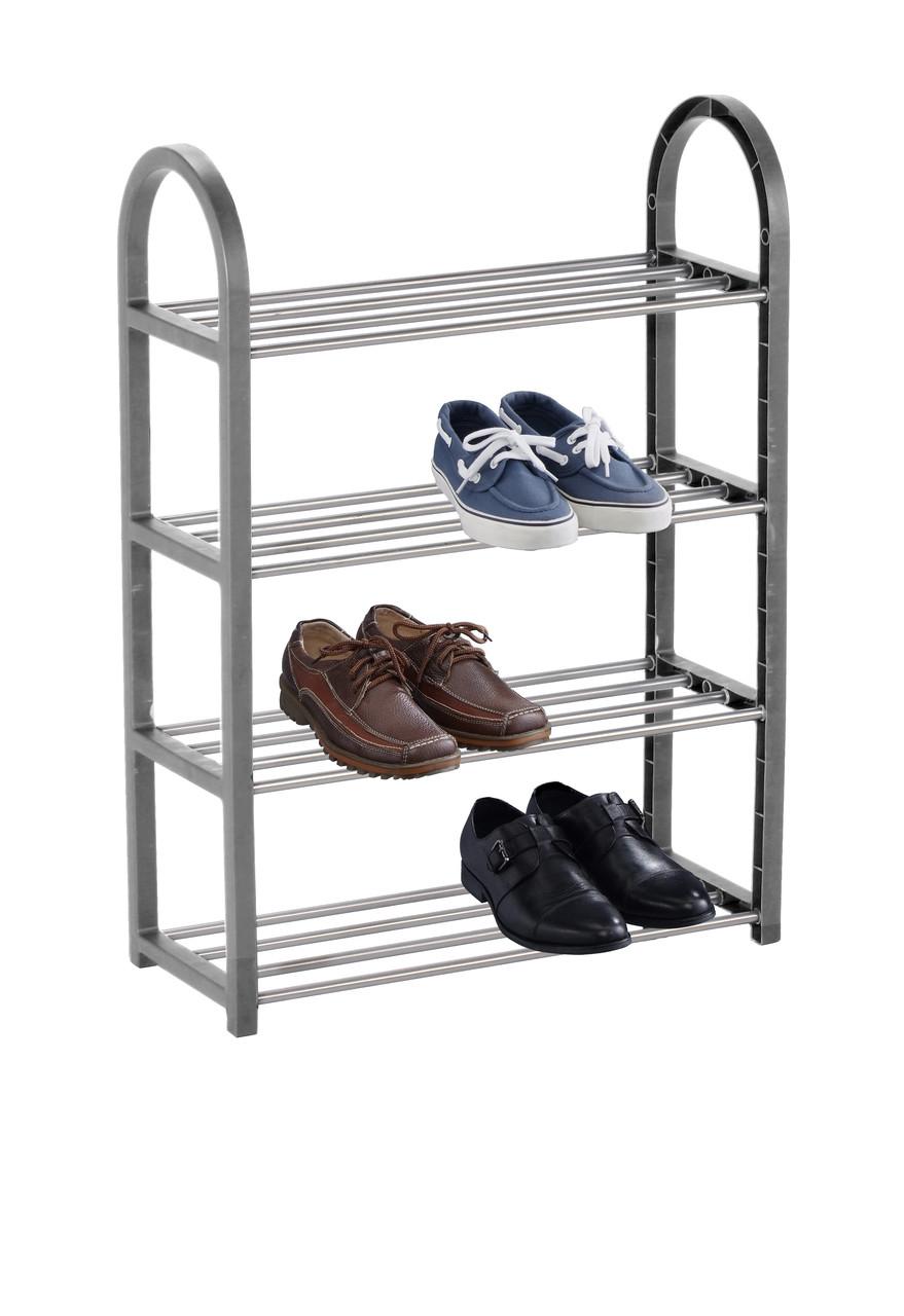Полка для обуви 66 x 50 x 19 см серая
