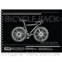 Альбом для малювання на спір., 30 арк. 120 г/м A5, чорний папір,  BL5130, фото 3
