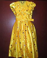 Яркое желтое платье с болеро на прокат в Харькове, фото 1