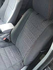 Чехлы на сиденья Шевроле Ланос (Chevrolet Lanos) (модельные, автоткань, отдельный подголовник) Черно-зеленый, фото 7