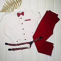 ✅Костюм нарядный для мальчика рубашка и брюки  Размеры 104 110 116 122, фото 1