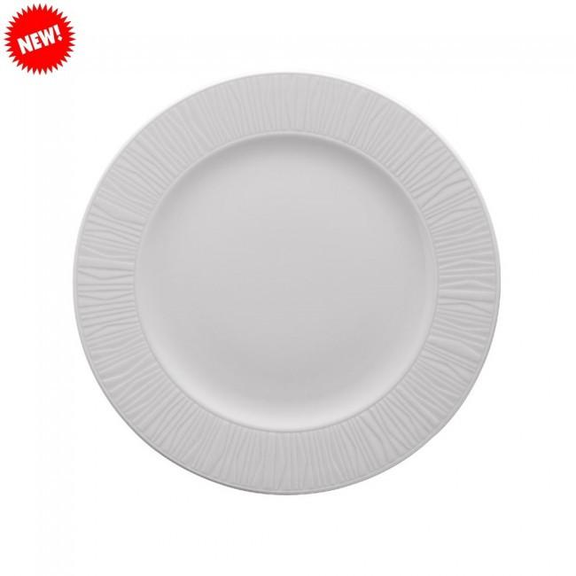 Тарелка белая фарфоровая круглая Kutahya EMOTION 300мм.