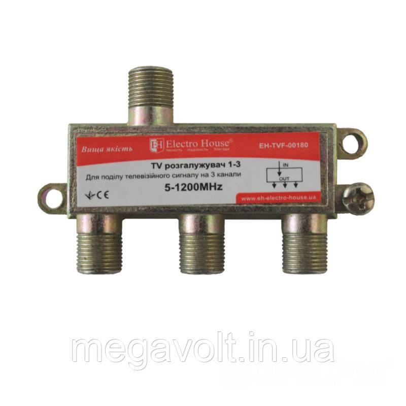 ТВ разветвитель 1-3 EH-TVF-00180