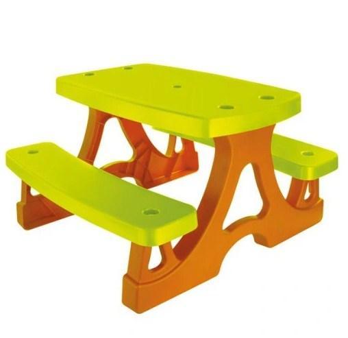 Столик со скамейками детский для пикника зеленый 79×78×47 см Mochtoys 17022