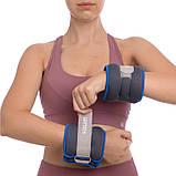 Обтяжувачі-манжети для рук і ніг Zelart 2шт x 0,5 кг, фото 6