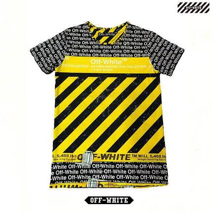 Мужская футболка. Реплика OFF-WHITE. Мужская одежда, фото 2