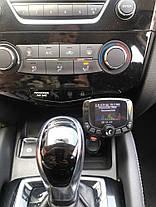 FM трансмиттер для авто, автомобильный плеер черный. Модулятор для Автомобиля, фото 3