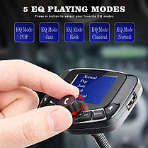 FM трансмиттер для авто, автомобильный плеер черный. Модулятор для Автомобиля, фото 2