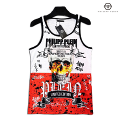 Яркая брендовая майка PHILIPP PLEIN Реплика Мужская одежда, фото 2