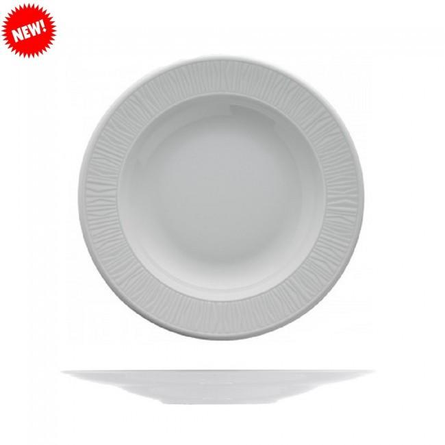 Тарелка белая фарфоровая глубокая Kutahya EMOTION  220мм