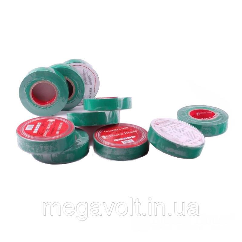Изолента зеленая 0,15мм х 18мм х 11м