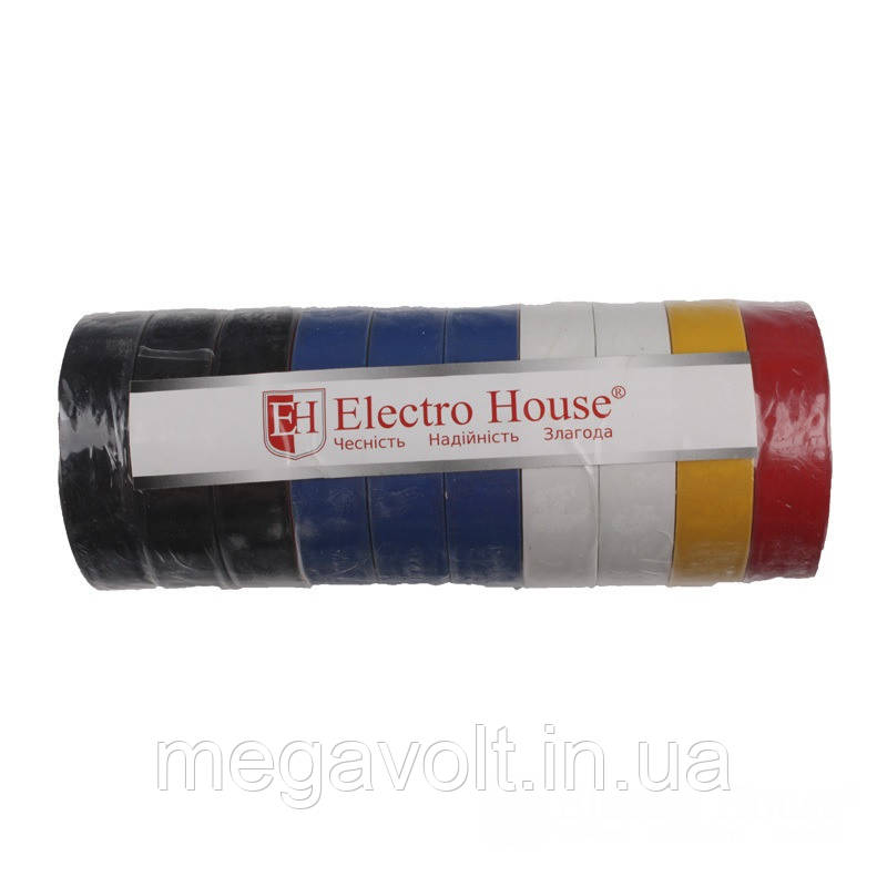 Изолента ассорти 0,15мм х 18мм х 11м