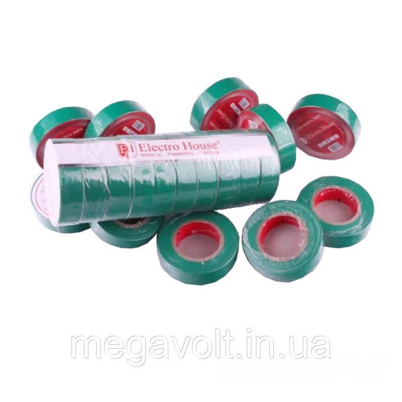 Изолента зеленая 0,15мм х 18мм х 17м