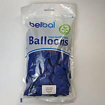 """Воздушные шары Belbal пастель темно синий 12""""(30 см) 50 шт"""