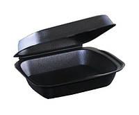 Ланч-бокс средний черный 150x246x60 мм