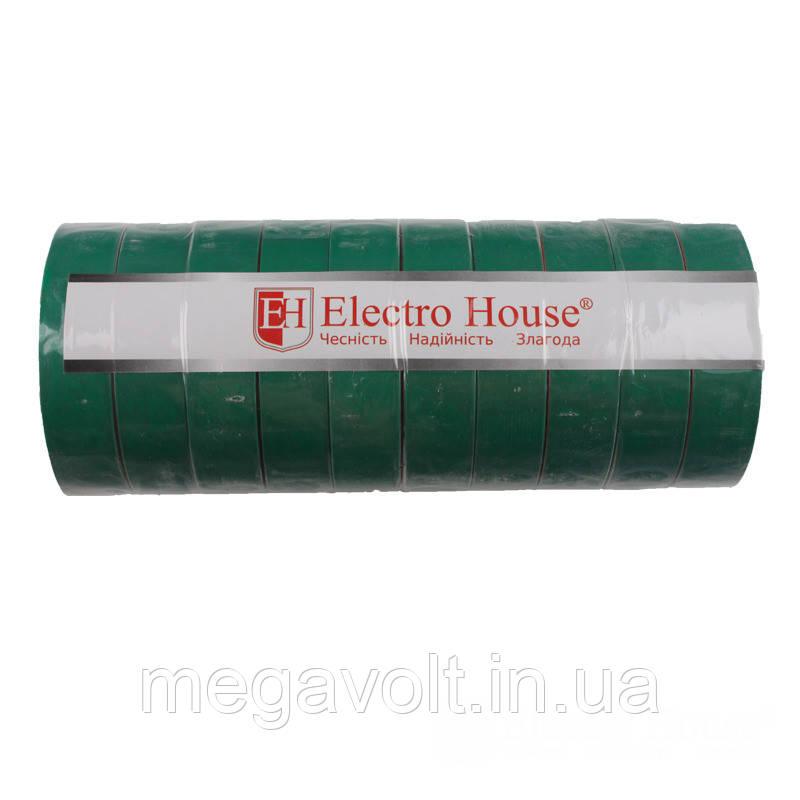Изолента зеленая 0,15мм х 18мм х 21м
