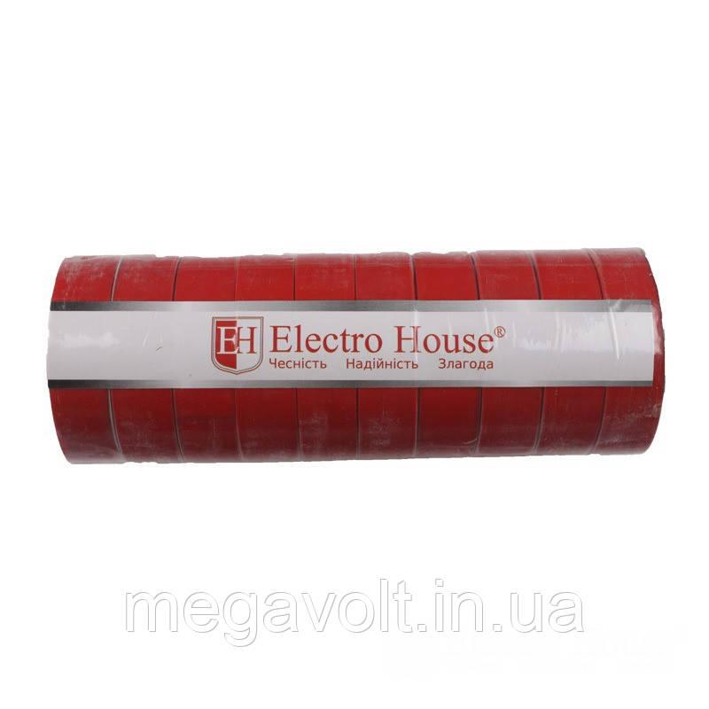 Изолента красная 0,15мм х 18мм х 25м